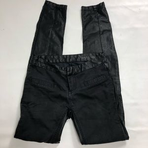 Blank NYC black vegan leather skinny jeans. Sz 24
